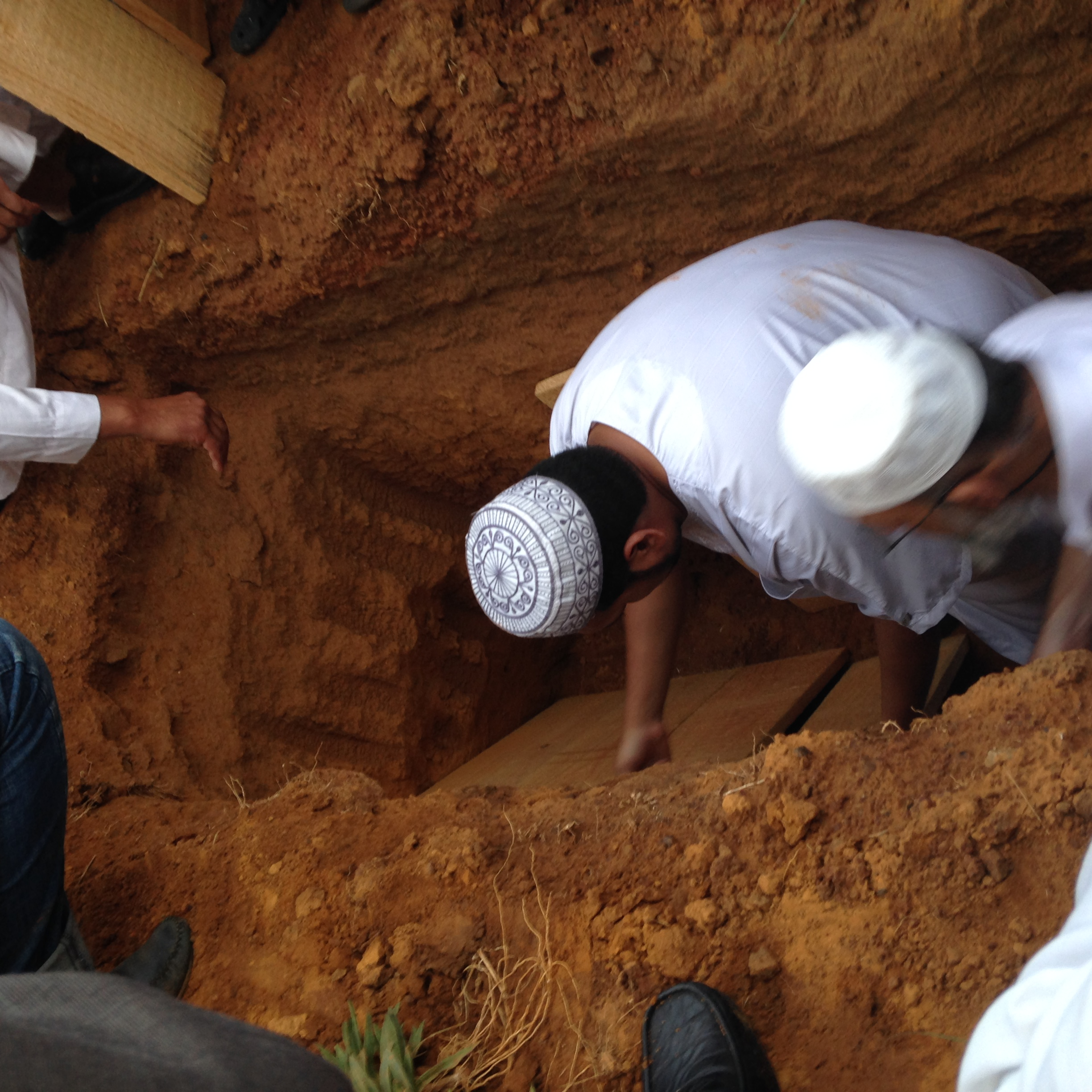 See (typical) burial sequence