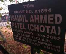 Ismail Ahmed Patel (Chota Patsons) Kempton Park Dec 5 2002