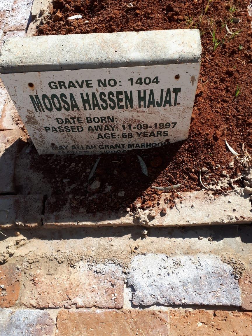 Moosa Hajat Sep 11, 1997