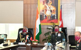What did the Indian Army Chief of Staff, who became an honorary Maharathi, do at the Nepal Army headquarters?