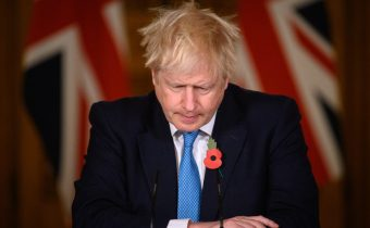 Boris Johnson Holds First Press Conference Of Second Coronavirus Lockdown