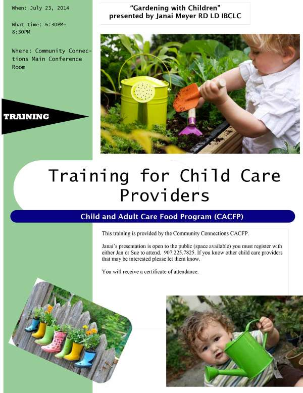 Gardening with Children - presented by Janai Meyer RD, LD, IBCLC
