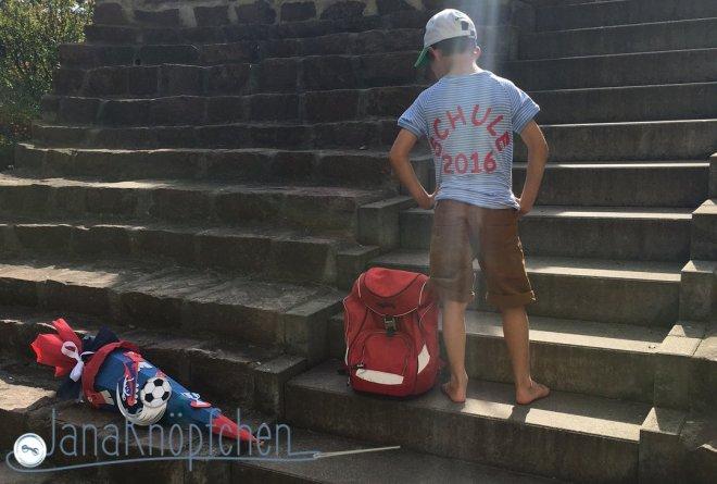 T-Shirt für die Einschulung nähen. JanaKnöpfchen Nähblog. Nähen für jungs