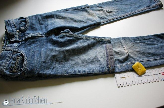 Tutorial Kürzen von Jeans Festlegen des Länge vom Umschlag. JanaKnöpfchen - Nähen für Jungs