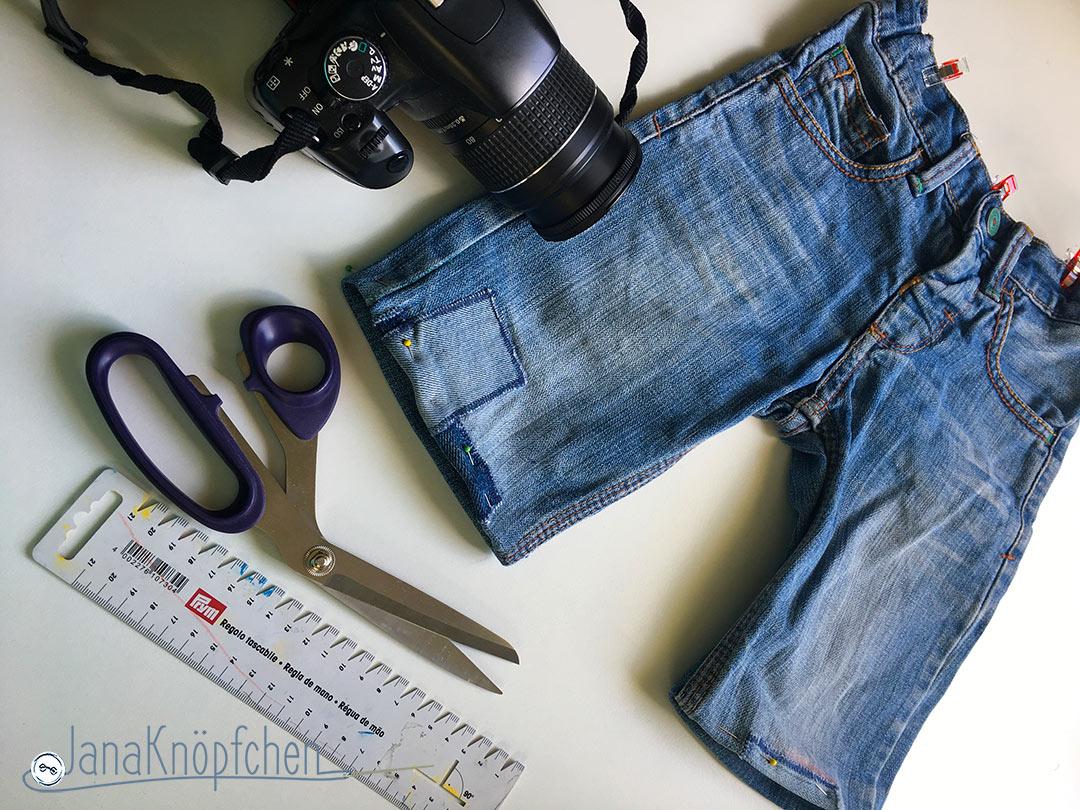 Tutorial: aus langer Jeans mach kurze Jeans Jeanshosen kürzen