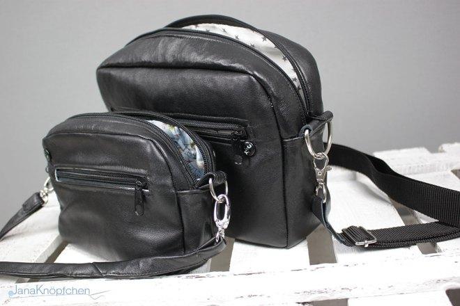 CamBag Tessa mit neuen Maßen - Handtaschen aus Leder nach dem Schnitt CamBag Tessa von CreaResa. JanaKnöpfchen - Nähen für Jungs