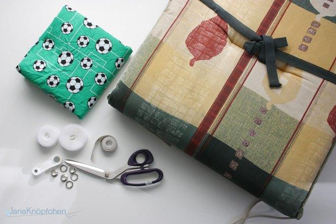 DIY Material für selbstgemachte Leseecke im Jungskinderzimmer. JanaKnöpfchen - Nähen für Jungs