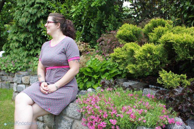 Jerseykleid für den Sommer nähen mit Raglanärmeln. JanaKnöpfchen - Nähen für Jungs