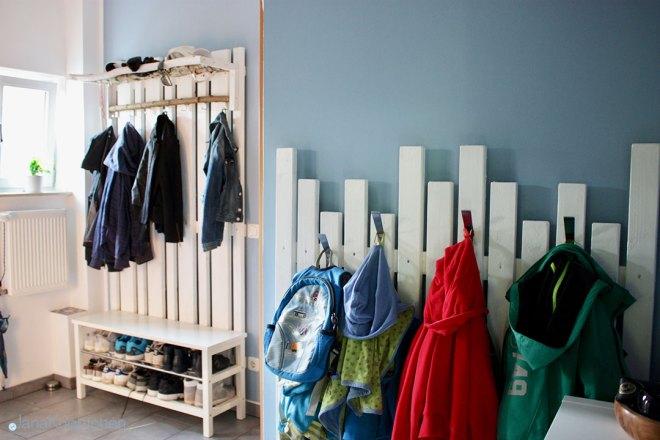 Diy Garderobe Für Den Flur Selbstgebaute Gaderobe Ikea Hack
