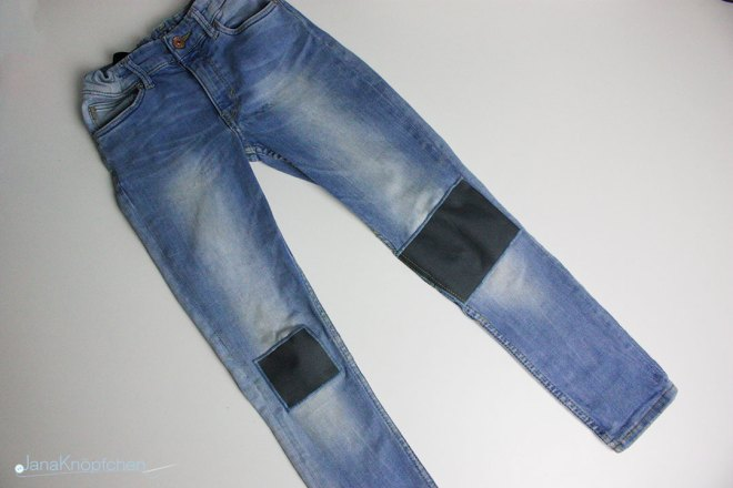 Tutorial wie flicke ich eine Jeans? Die Hose ist fertig. JanaKnöpfchen - Nähen für Jungs
