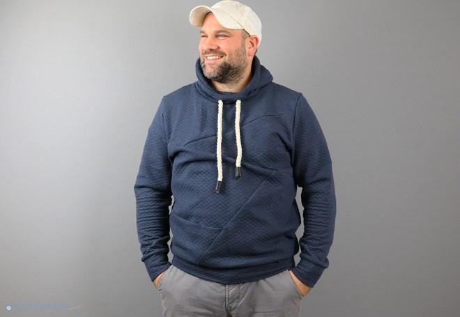 12ausdemstoffregal Steppsweat Hoodie für Männer genäht. JanaKnöpfchen - Nähen für Jungs.