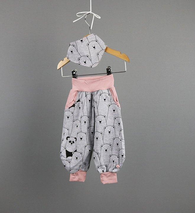 Babyset Teddybären-Hose für Mädchen Gr. 62. JanaKnöpfchen