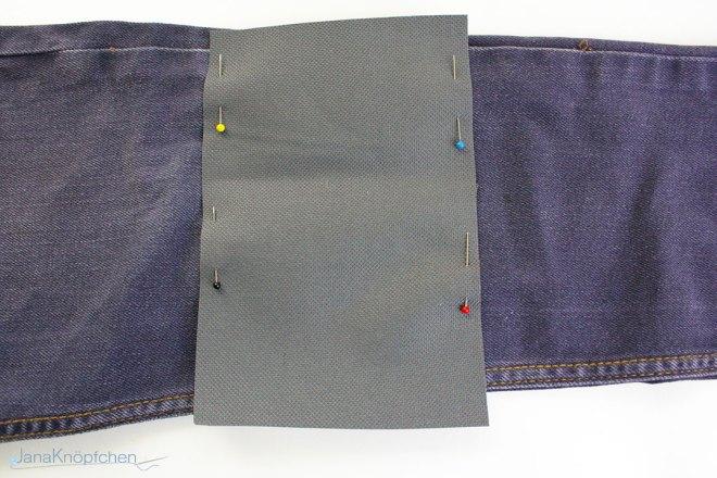 Tutorial Jeans flicken. Flicken feststecken. JanaKnöpfchen - Nähen für Jungs