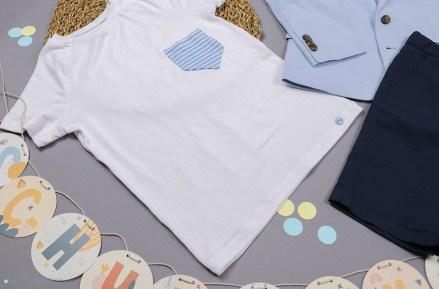 Selbstgenähte T-Shirt mit Brusttasche. JanaKnöpfchen - Nähen für Jungs