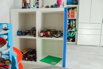Altes Ikea-Regal wird Lego-Regal. JanaKnöpfchen - Nähen für Jungs