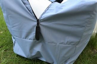 Reißverschlussdetail an Tasche für Kissen. JanaKnöpfchen.