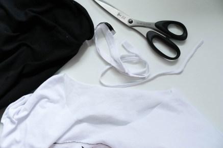 Halsbündchen an T-Shirt neu annähen. JanaKnöpfchen - Nähen für Jungs