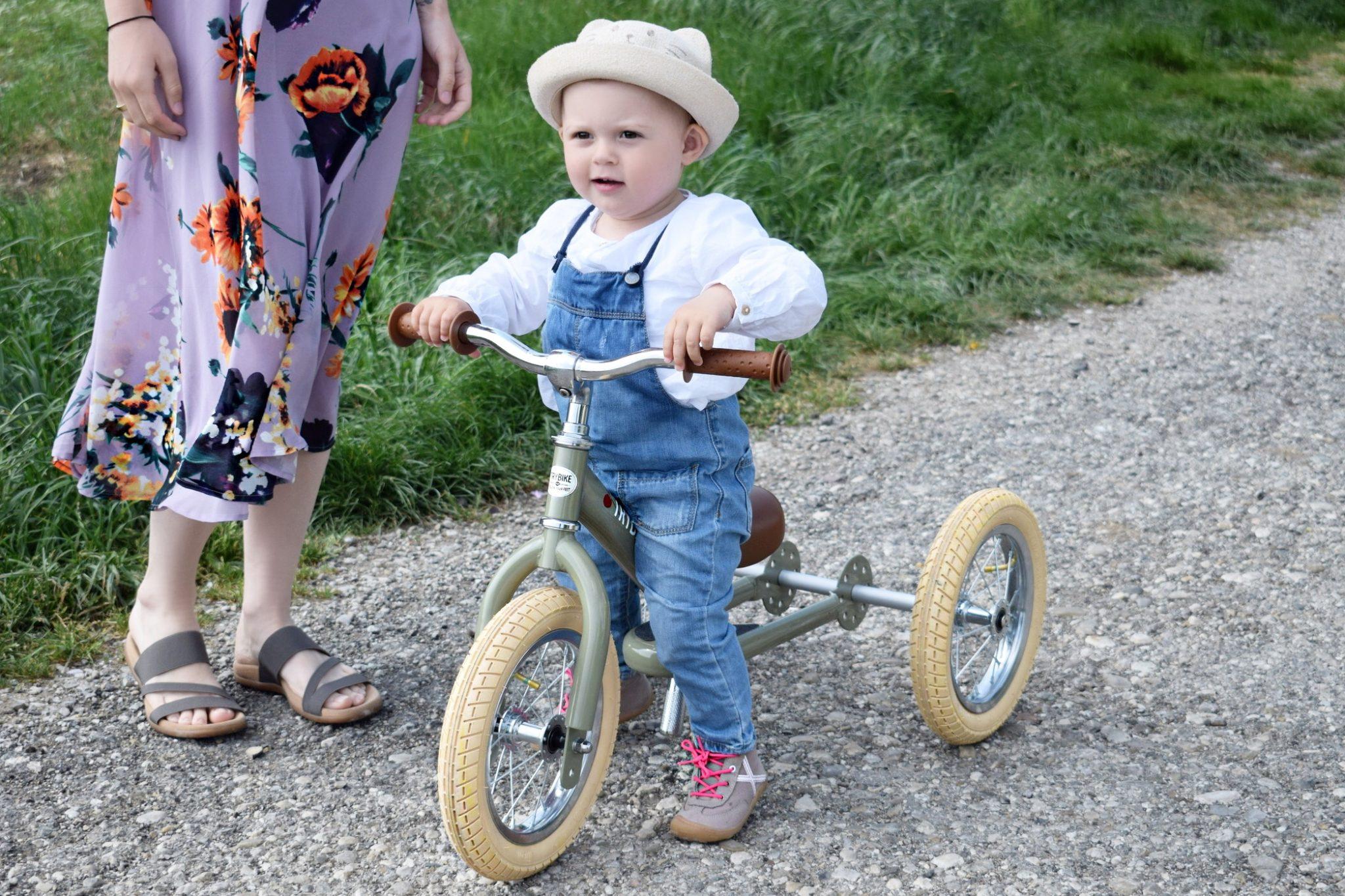 Wo ist nur die Zeit gebleiben? Das Vintage TRYBIKE STEEL von Kleine Flitzer Mama Blog München 1