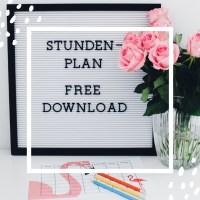 Stundenplan kostenloser Download zum Ausdrucken