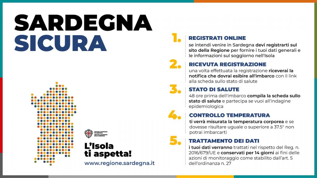 """""""Sardegna Sicura"""" Arrivare in Sardegna con le carte in regola.."""