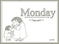 Jan Brett's Days of the Week Coloring Pages Times