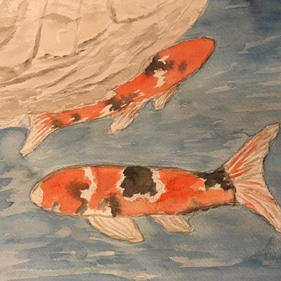 Koi-Pond-watercolor