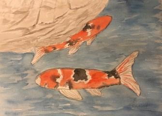 Koi-Pond-watercolor