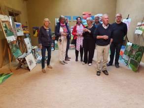 Expositie schildercursus atelier de viller Frankrijk