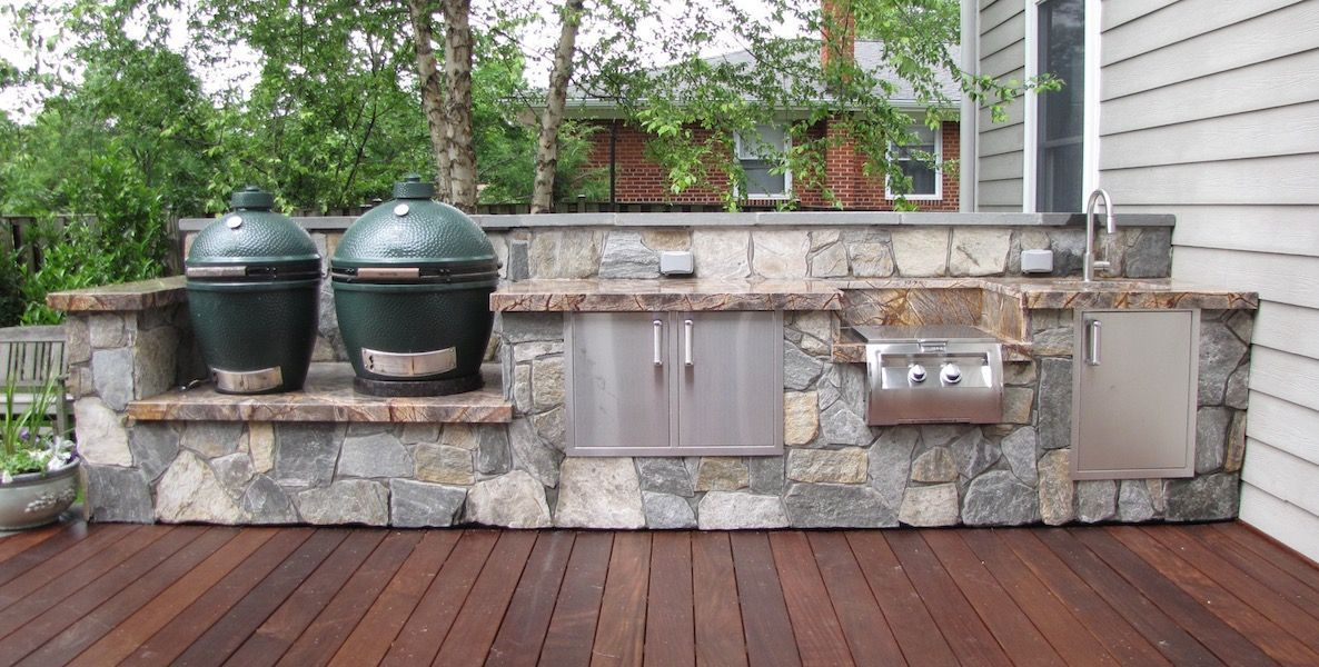 grill for outdoor kitchen aid pasta designs installation j landscape management inc custom kitchens