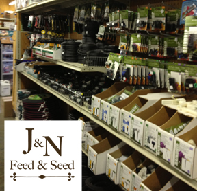 Sprinker system repair parts at J&N Feed and Seed in Graham, Texas.