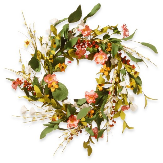 Beautiful and inviting spring wreaths to dress up your front door beautiful spring wreaths spring flower wreath pink target mightylinksfo