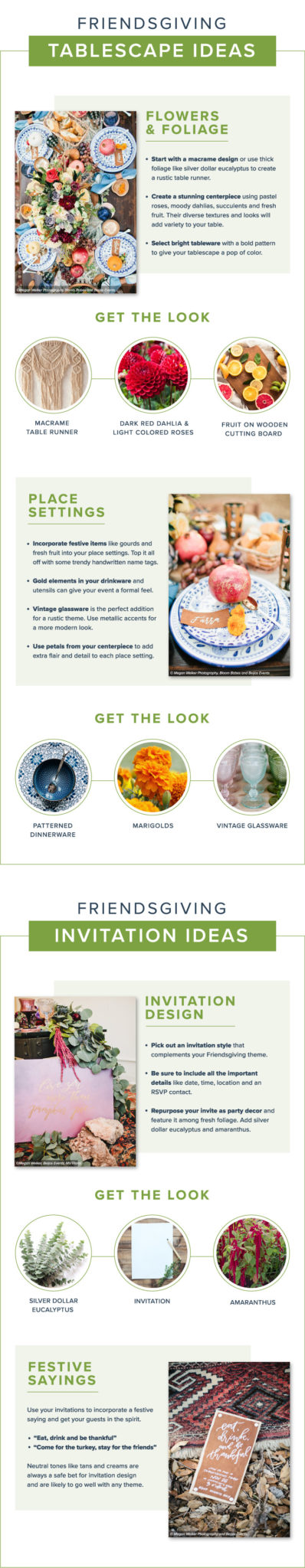 Great Friendsgiving ideas from Proflowers, including tablesettings, menus, decor, and invitations