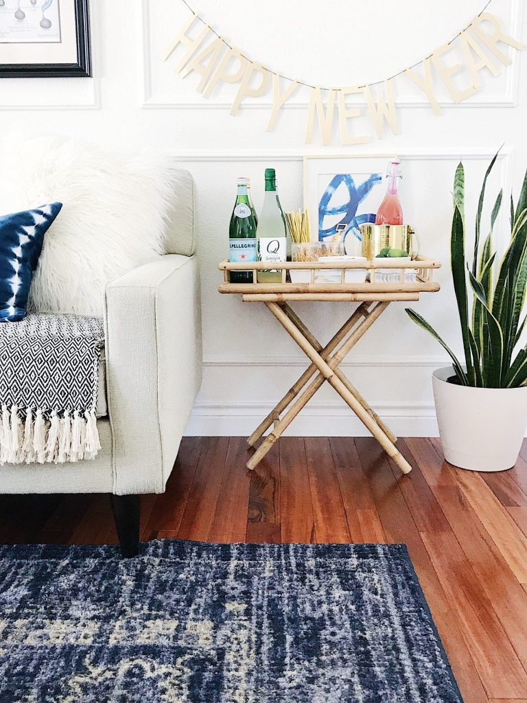 New Year\'s Eve Bar Cart Styling Essentials - jane at home
