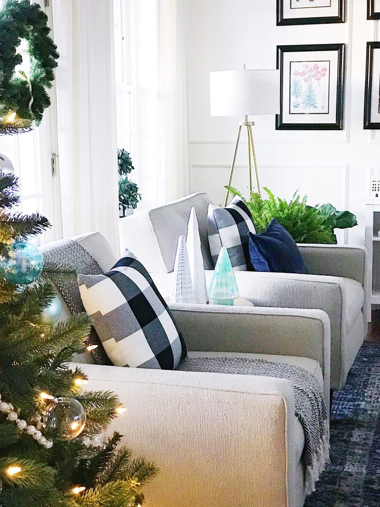Blue and White Christmas Home Tour + Easy Christmas Decorating Tips