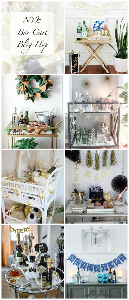 Great New Year's Eve bar cart styling tips and ideas
