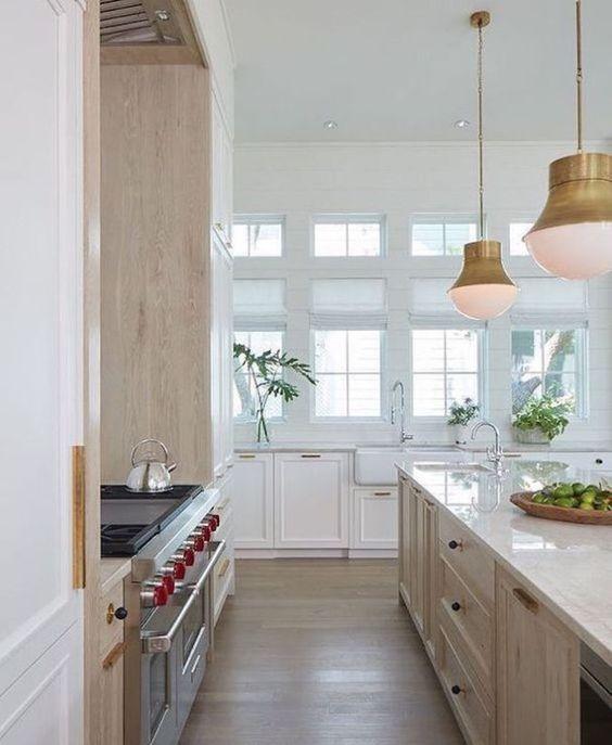 Beautiful wood and white kitchen