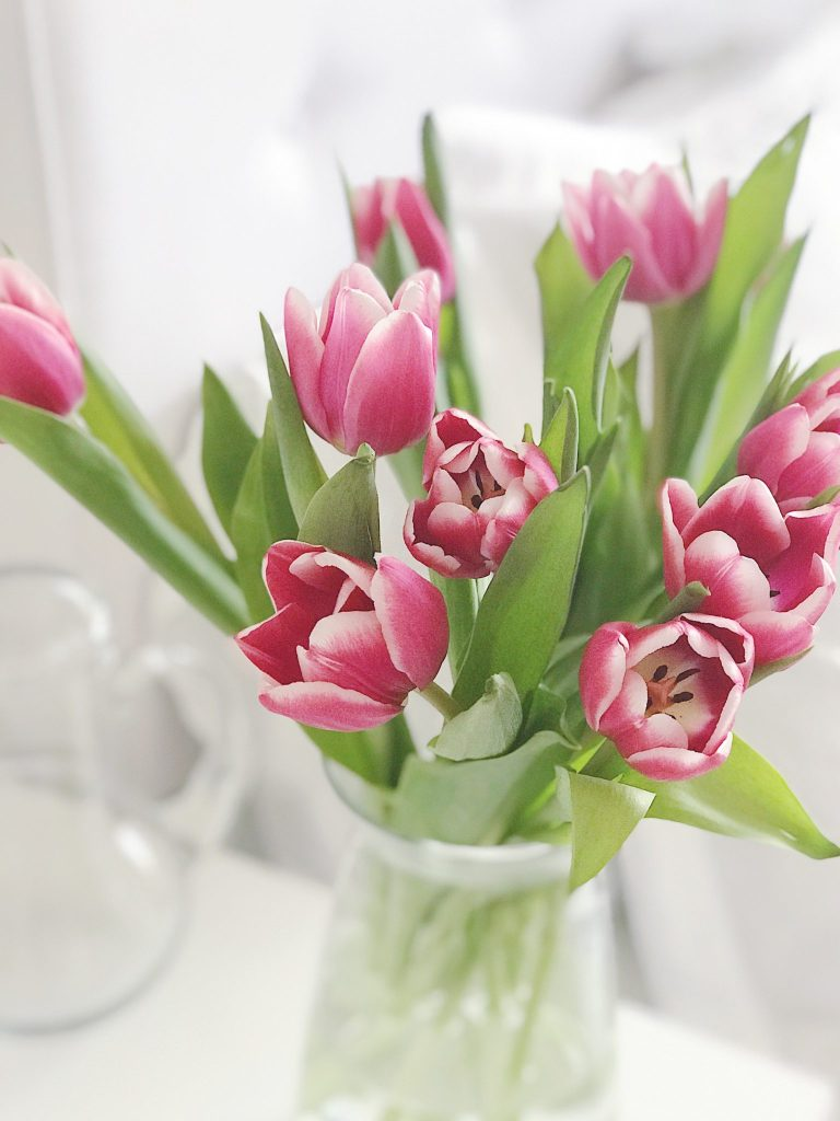 Make Your Home Feel More Cozy - pink tulips