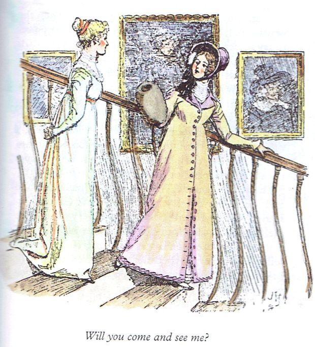 Suprema Corte, citação de Jane Austen - Elizabeth Bennet e Charlotte Lucas