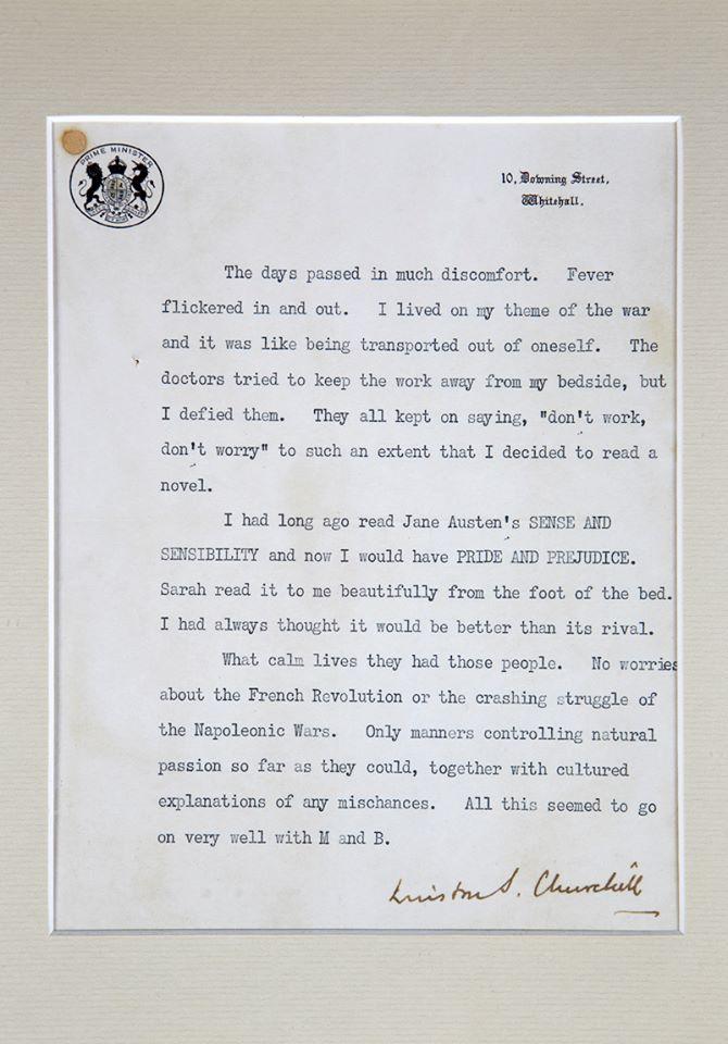 Winston Churchill sobre Orgulho e preconceito