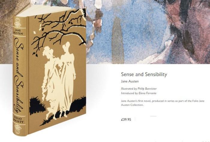 Elena Ferrante - prefácio de Sense and Sensibility da folio Society