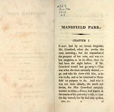 Mansfield Park, volume III
