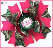 camo hair bow cutie camouflage