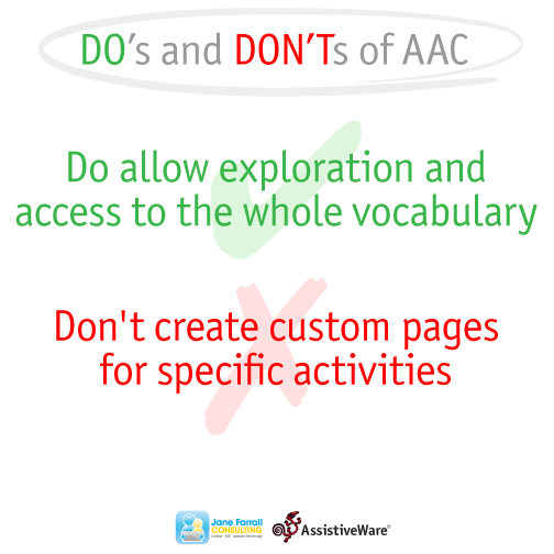 Aim for language development: Don't create custom pages ...