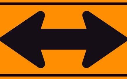 Double arrow sign