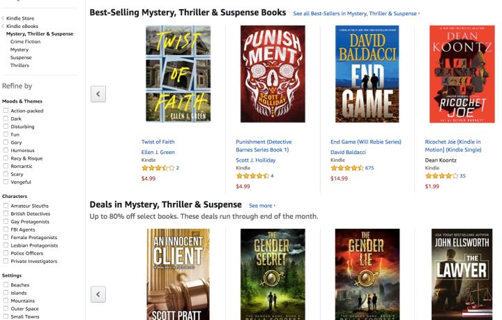 Amazon Kindle mystery thriller suspense