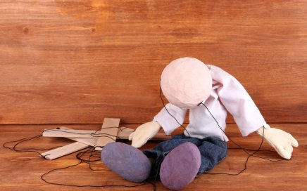 Image: a limp marionette