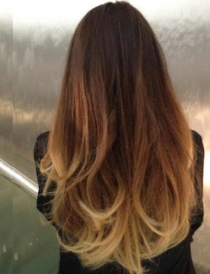 Definition: The hair world borrowed the term 'Ombre' from the french word  meaning