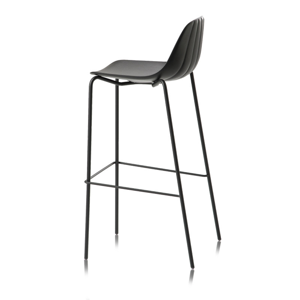 chair steel legs dining covers at walmart babette sg 80 stool high 4 leg metal jane hamley wells babsg a modern restaurant bar polyurethane seat chrome or painted