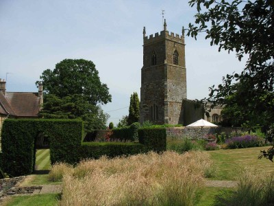 Church and meadow