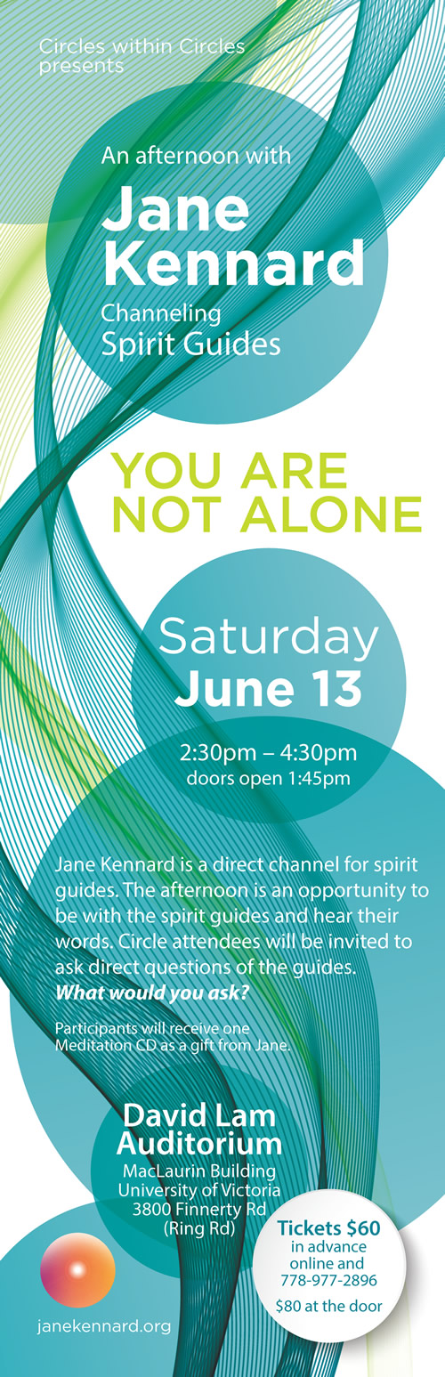 You-Are-Not-Alone-Circle-Gathering-with-Jane-Kennard-June-13-2015-poster